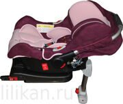 Автокресло ForKiddy Lagun Bordo (в комплекте с базой IsoFix)
